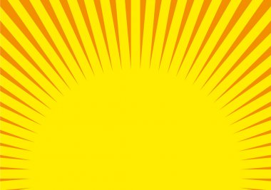 Vector Circus background, Yellow-Orange
