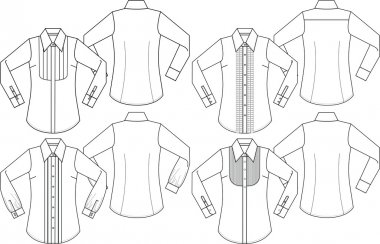 lady fashion formal shirts