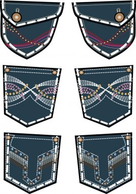 denim back pockets design