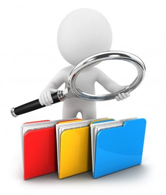 3d white examines files