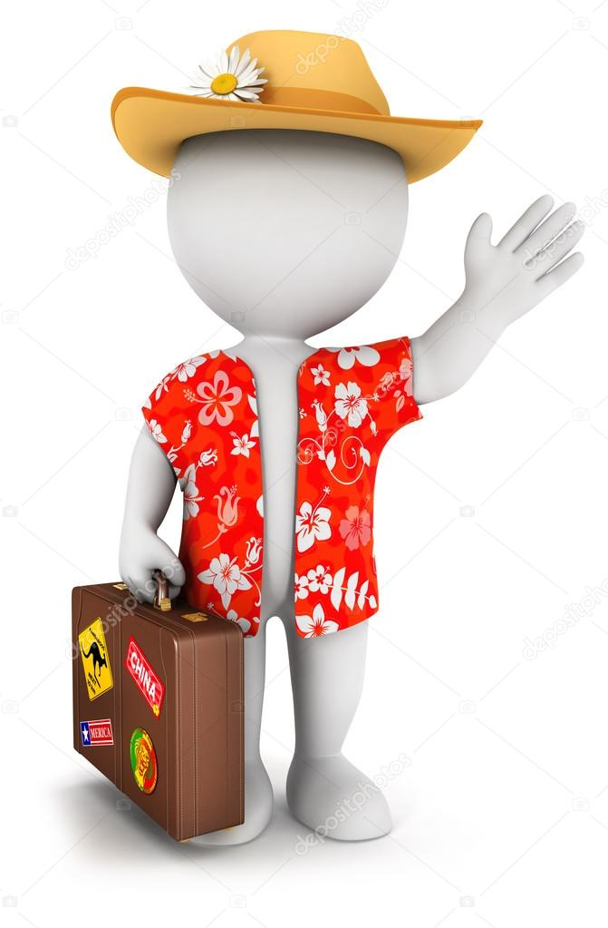 3d white goes on vacation