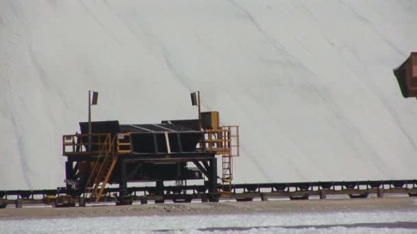 Salt farm with truck