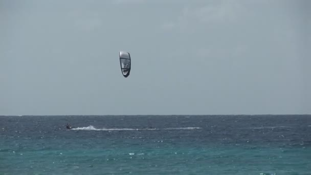 Kite surfers on Bonaire, Netherlands Antilles.
