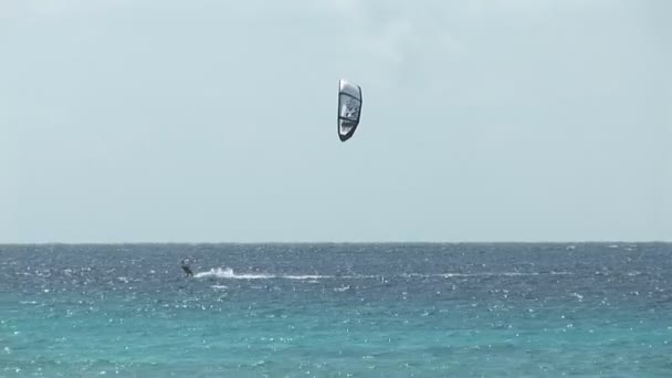 Kite surfers on Bonaire, Netherlands Antilles.
