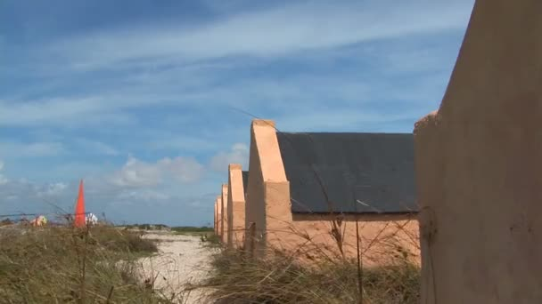 Red Slave Huts on Bonaire, Netherlands Antilles
