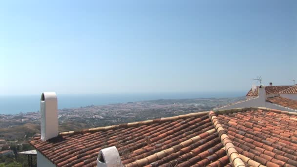 Overview shot of Fuengirola, Spain. Costa del Sol.