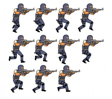 SWAT Running Animation Sequence