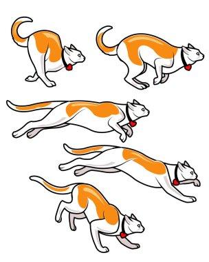 Cat Running Fast Animation Sprite