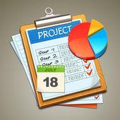 Fotografia icona grafico con appunti
