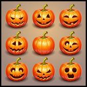 Photo Set pumpkins for Halloween