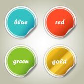 Fotografia adesivi colorati