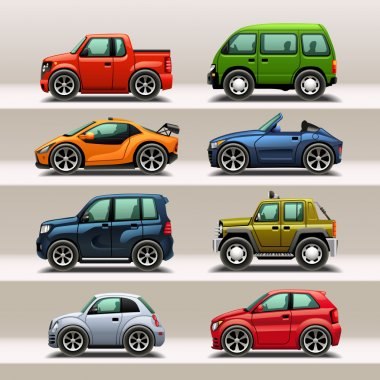 Car icon set stock vector