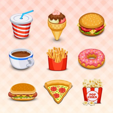 Food icons stock vector