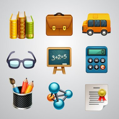School icons-set stock vector