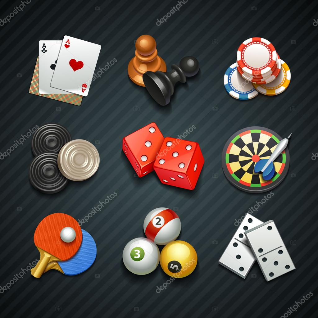 Games icons stock vector