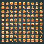 100 oranžové vektorové ikony