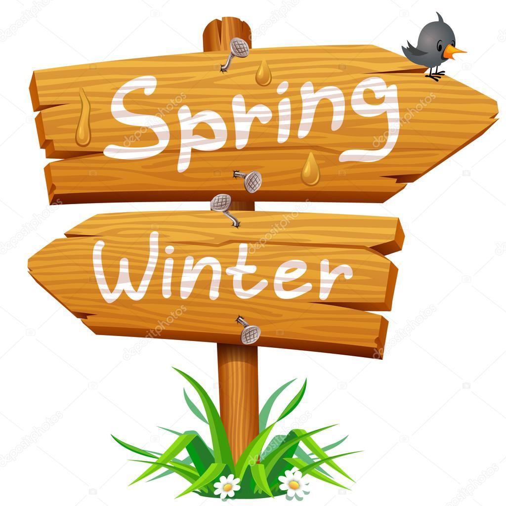 Spring wooden arrow icon