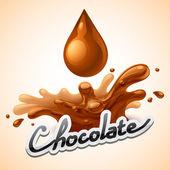 Fotografie heißen Schokolade Spritzen