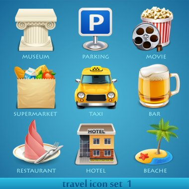 Travel icon set-1