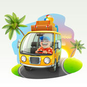 Letní prázdniny výlet ilustrace
