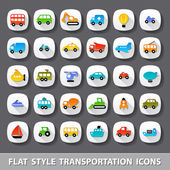 Photo Flat style transportation icons
