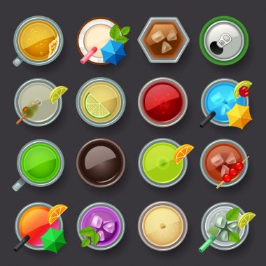 Alcohol beverage and cocktail icon