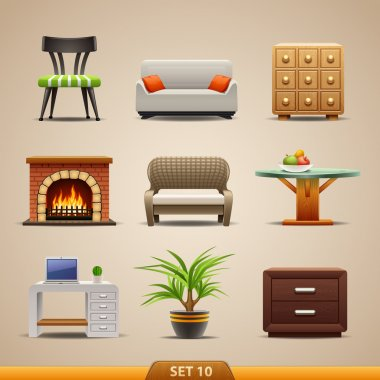 Furniture icons-set