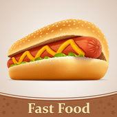 rychlé občerstvení ikona - hot dog