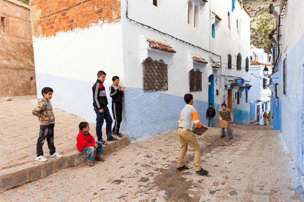Fotos Ninos Jugando En La Calle Chefchaouen Marruecos 20 De