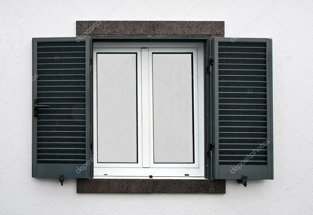 Window with open shutters