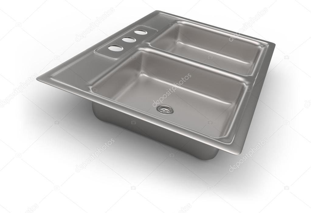 lavello cucina in acciaio inox — Foto Stock © coddie #36436933