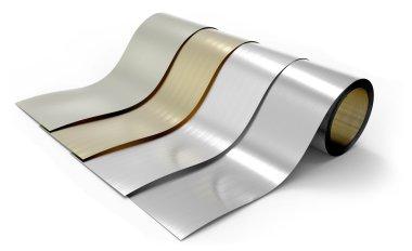 Rolls of metal foil