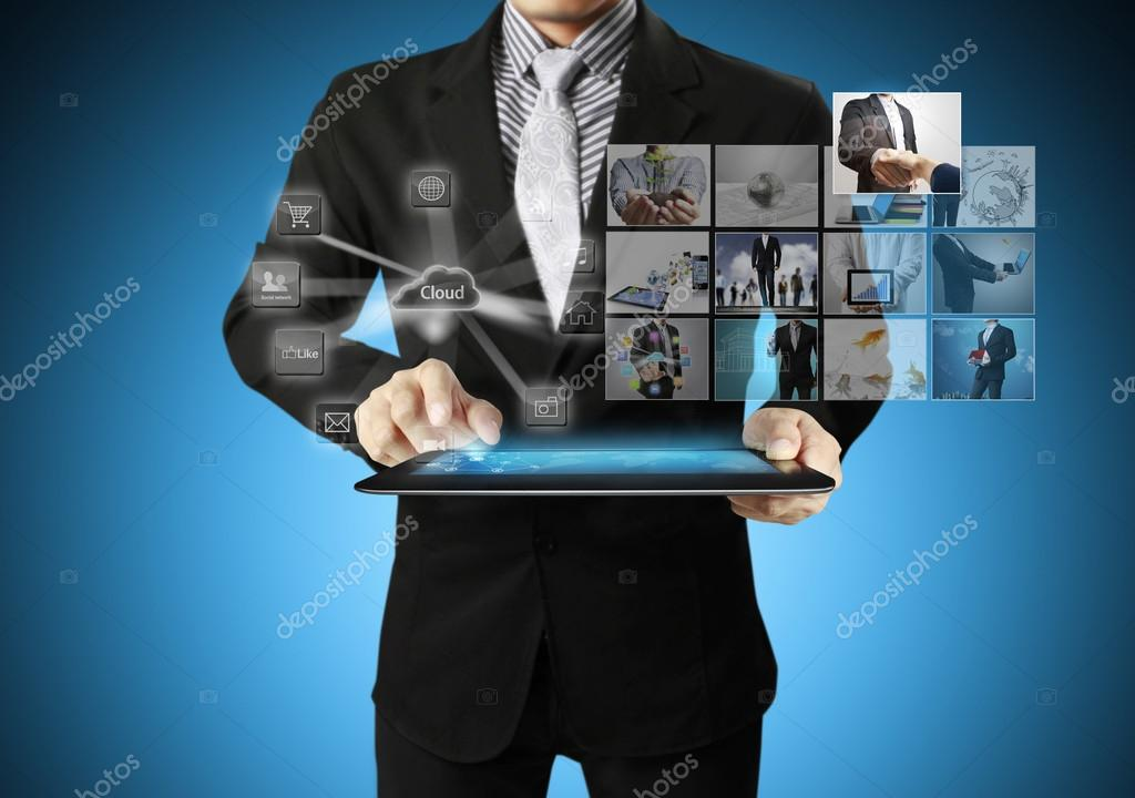 touch- tablet in hand