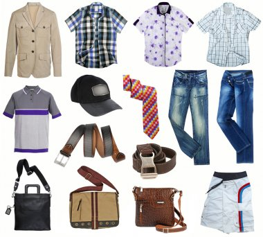 Male fashion clothes collection