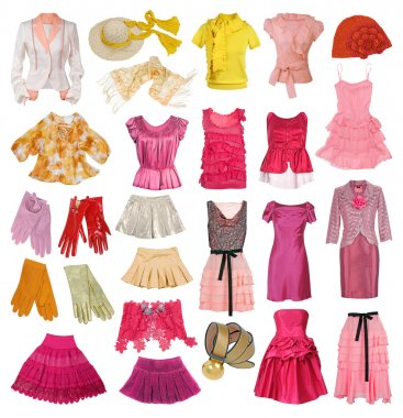 collection of women's clothing