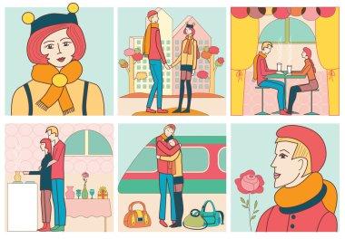 love story (vector illustration)