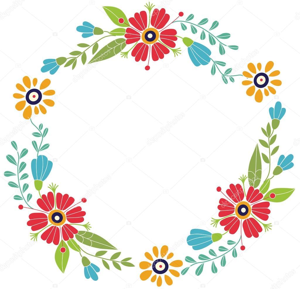marco flores diseñado para las invitaciones para las fiestas
