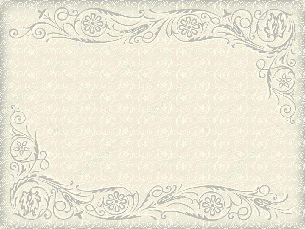 Ornamental floral wedding background frame with swirling ornamental floral wedding background frame with swirling decorative elements stock vector 13534509 junglespirit Image collections