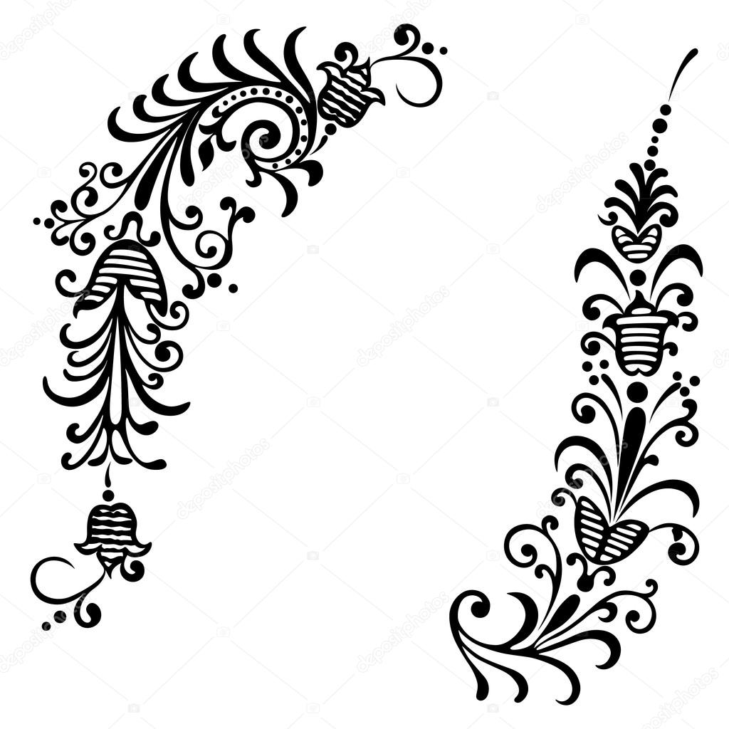vector elements for design flowers and ornaments floral stock rh depositphotos com vector ornament brushes illustrator vector ornaments designs laser wood
