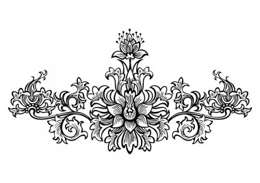 swirling elements for design flowers and ornaments floral