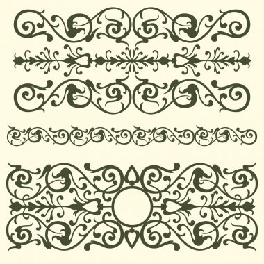 Vintage pattern, swirling elements