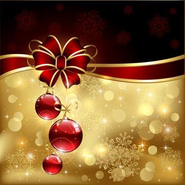 Bow and christmas balls