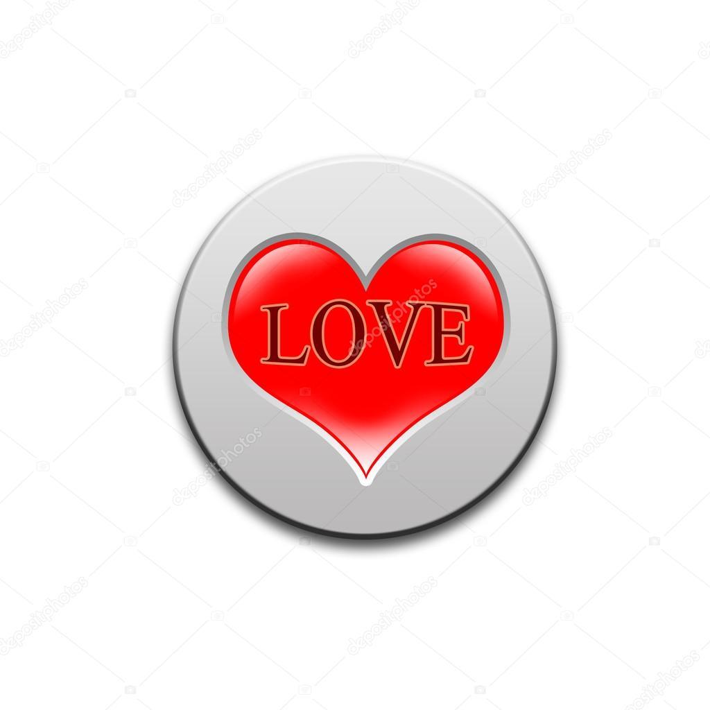 Button love amat — photo 15