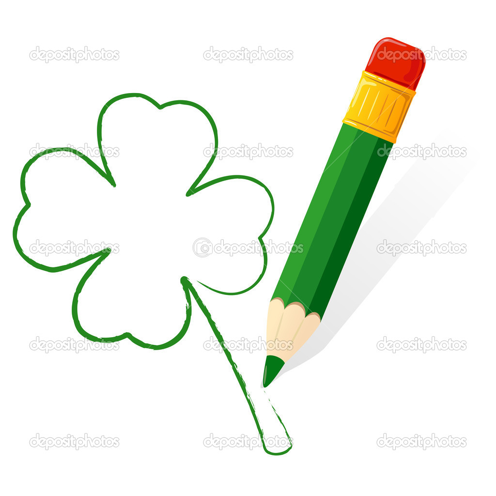 Patrick Day Paint Clover Stock Vector C Losw 40095563