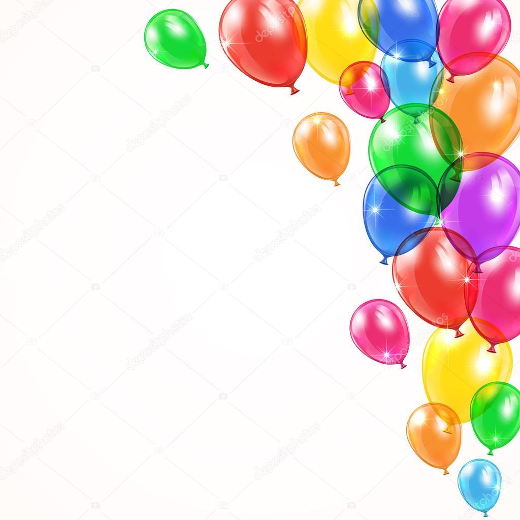 Sfondo con palloncini lucidi vettoriali stock losw - Immagine con palloncini ...