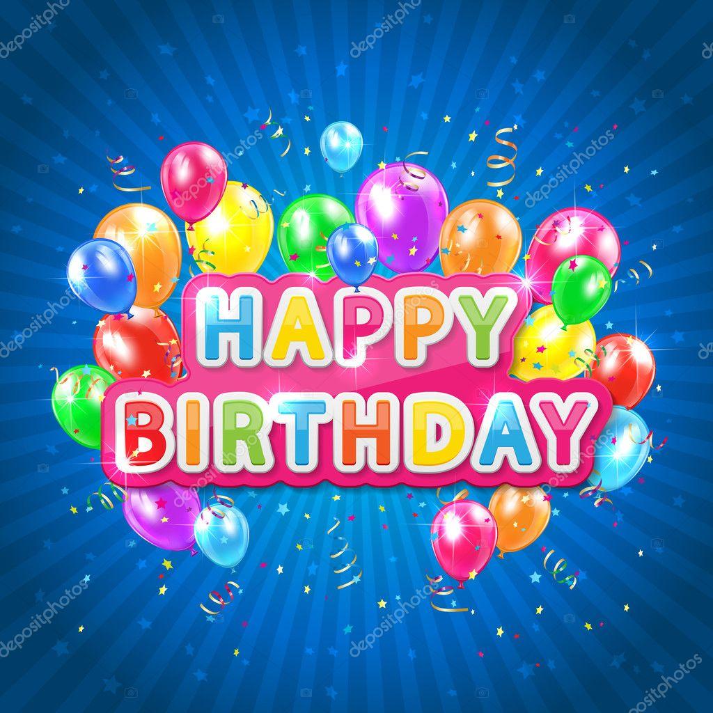 Grattis På Födelsedagen Blå Bakgrund