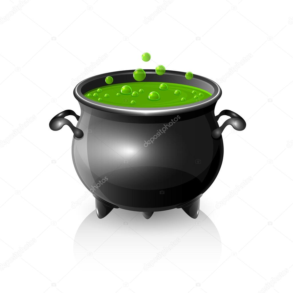 Halloween cauldron — Stock Vector © losw #51611719