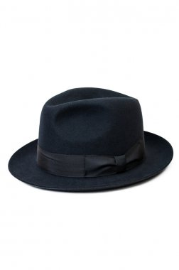 Black hat for man isolated on white backgroun