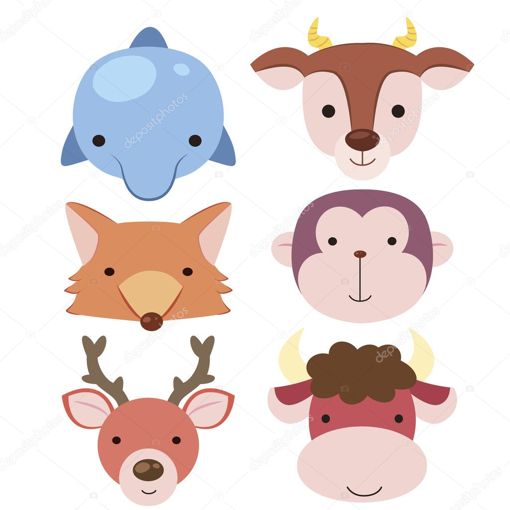 Icon04 de t te animal mignon image vectorielle kchungtw - Animal mignon ...