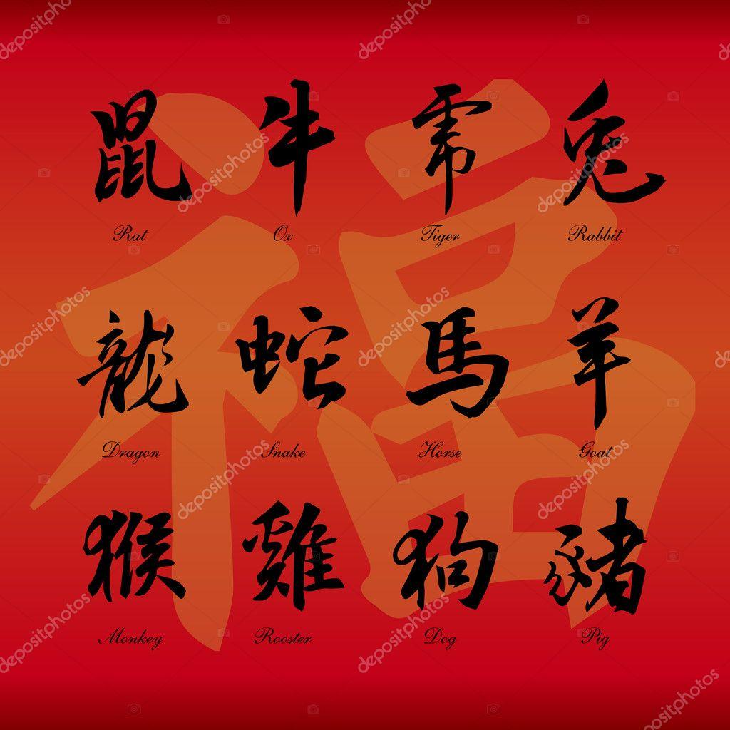 Chinese Symbols Stock Vectors Royalty Free Chinese Symbols
